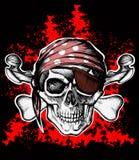 Jolly Roger-piraatsymbool met gekruiste beenderen Stock Afbeelding