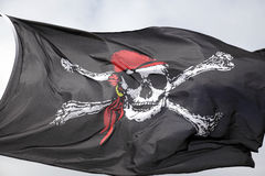 Jolly roger pirate flag Stock Images