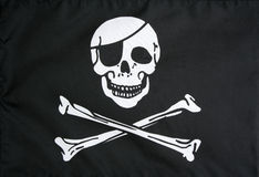 Free Jolly Roger Pirate Flag Royalty Free Stock Images - 7363519