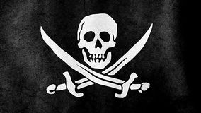 Jolly Roger Pirate Flag stock video footage