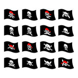 Jolly Roger. Pirate flag. Skull and crossbones. skeleton head in Stock Photography