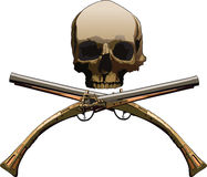 Jolly Roger with pistols Royalty Free Stock Image