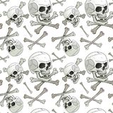 Jolly Roger seamless Royalty Free Stock Images