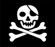 Jolly Roger skull -. Jolly Roger skull and crossed bones - pirate symbol vector illustration
