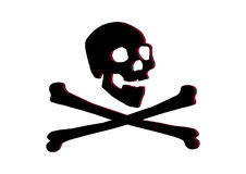 Jolly roger skull and bones Stock Images
