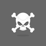 Jolly Roger. Skull bones. pirate  flag Royalty Free Stock Image