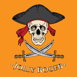 Jolly Roger skull Royalty Free Stock Images