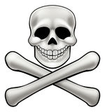 Jolly Roger Skull and Crossbones Royalty Free Stock Photos