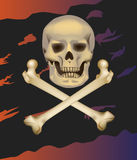 Jolly Roger .Skull and crossbones . Stock Photography