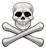 Jolly Roger Skull et os croisés Photos libres de droits