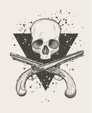 Jolly roger skull Stock Image