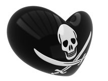 Jolly Roger skull symbol Royalty Free Stock Images