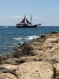 The Jolly Roger swings into view. Paphos Cyprus 2017 Stock Photography