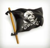 Jolly Roger symbol royaltyfri illustrationer