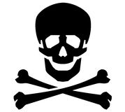 Jolly Roger vector logo design template. human Royalty Free Stock Photography