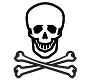 Jolly Roger vector logo design template. human Stock Images