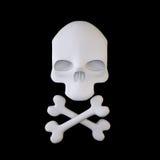 Jolly Roger (Zeichen der gekreuzten Knochen) Lizenzfreie Stockfotos