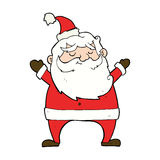 Jolly santa cartoon Royalty Free Stock Images