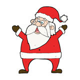 Jolly santa cartoon Stock Images