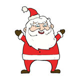 Jolly santa cartoon Royalty Free Stock Image