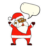 jolly santa cartoon with speech bubble Royalty Free Stock Images