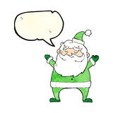 Jolly santa cartoon with speech bubble Stock Images