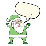 Jolly santa cartoon with speech bubble Royalty Free Stock Photography