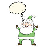 Jolly santa cartoon with thought bubble Stock Photos