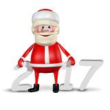 Jolly Santa Claus för illustration 3D _2017 stock illustrationer