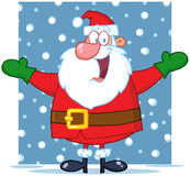 Jolly Santa Claus With Open Arms Stock Photos