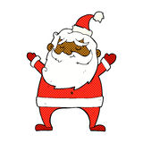 Jolly santa comic cartoon Stock Images