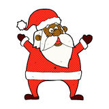 Jolly santa comic cartoon Royalty Free Stock Photos