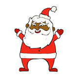 Jolly santa comic cartoon Royalty Free Stock Image