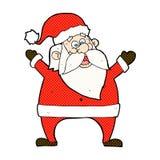 jolly santa comic cartoon Stock Images
