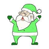 jolly santa comic cartoon Stock Image