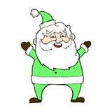 jolly santa comic cartoon Stock Photography