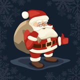 Jolly Santa on a dark background Stock Images