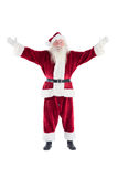 Jolly Santa opens his arms to camera Stock Photography