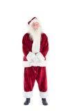 Jolly Santa smiling at camera Royalty Free Stock Image