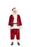 Jolly Santa smiling at camera Royalty Free Stock Photography