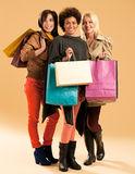 Jolly Shopaholics Royalty Free Stock Photography