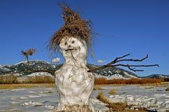 Jolly Snow au-dessous des montagnes photographie stock libre de droits