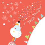 Jolly Snowman Stock Photos