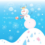 Jolly snowman Royalty Free Stock Images