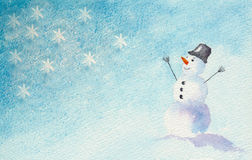 jolly snowman Arkivfoton