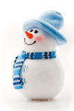 Jolly snowman in blue hat Royalty Free Stock Photo