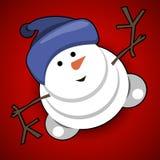 Jolly Snowman Royalty Free Stock Image