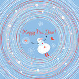 Jolly Snowman in a whirlwind Royalty Free Stock Images