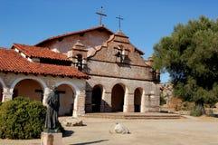 Jolon, CA: San Antonio de Padua Church. The historic San Antonio de Padua Spanish Mission Chapel near Jolon, California restored by the William Randolph Hearst Stock Images