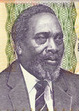 Jomo Kenyatta. On 100 Shilingi 2006 Banknote from Kenya. First prime minister (1963-1964) and president (1964-1978) of Kenya Stock Images